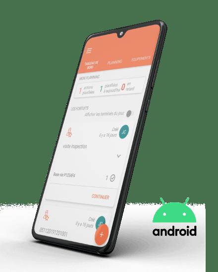 Application personnalisée sur smartphone dans le secteur de l'industrie